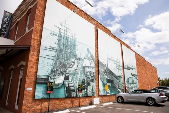 Murals depicting historic moments in Pensacola history now grace the Museum of Commerce and Voices of Pensacola in Historic Pensacola.