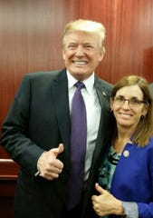 Sen. Martha McSally with President Trump.