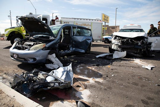 A suspected human smuggler led Yuma border agents on a pursuit that ended when the driver crashed into another vehicle, and then barricaded himself inside a nearby home on November 21, 2019.