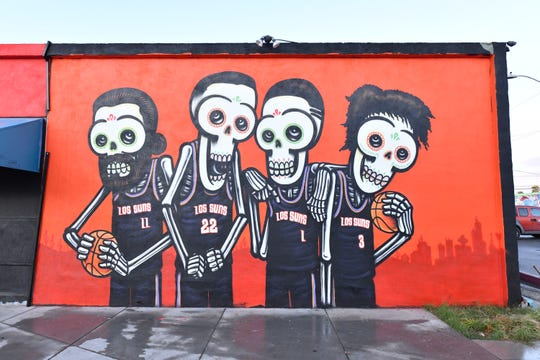 The new Suns mural.