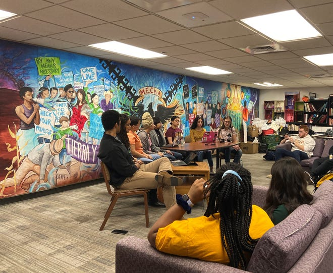 A group of ASU students met Friday to condemn recent racial incidents on campus.
