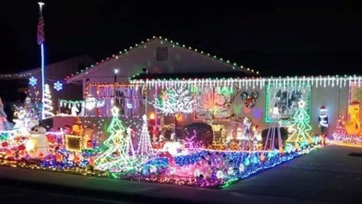 Phoenix holiday lights map 2020
