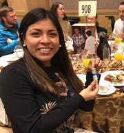 Rocio Jauregui was delighted with the chance to treat someone to coffee.