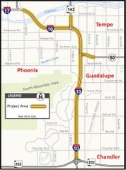The Arizona Department of Transportation is proposing to expand an 11-mile stretch of Interstate 10 to ease congestion.