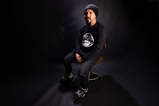 Adam Keller, photographed Friday, Nov. 22, 2019, has been an advocate in breaking the stigma that skaters are troublemakers by citing his own experience in recovery in assisting with the fundraiser for the new Optimist Park skatepark.