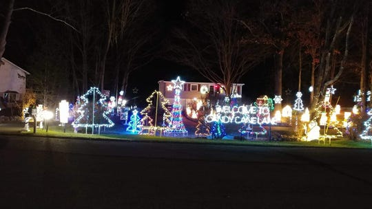 Marcus Paroli has been putting on a lighting display outside his Hyde Park home since 2010.
