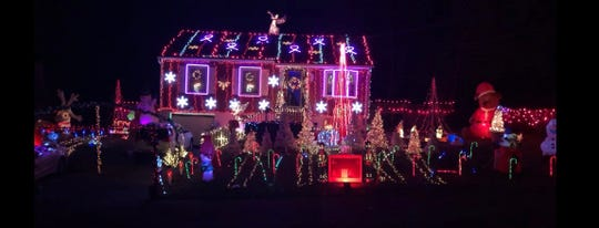 The Fortis family home is decked out in lights in 2018.