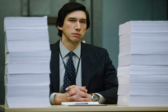 "Adam Driver stars in ""The Report."" The film is playing at Small Star Art House."