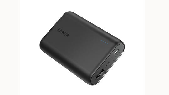 The Anker PowerCore 10000 compact portable battery charger.