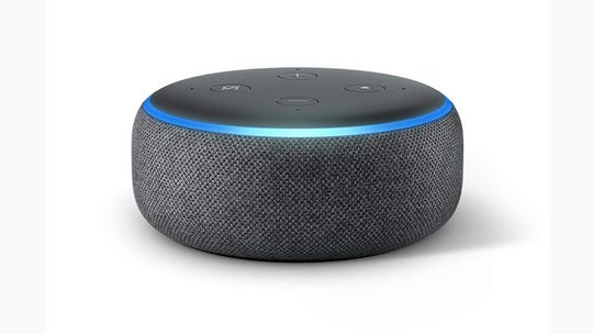 The Amazon Echo Dot smart speaker.