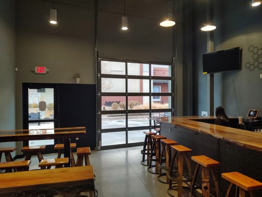 The taproom at the new Imbib Custom Brews in the Outlets at Legends in Sparks offers a rotating selection of 20 beers.