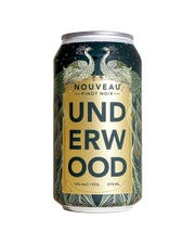 Underwood's Pinot Noir Nouveau is sold in cans, party-ready, playful and befitting the style of un-aged wines of this style.