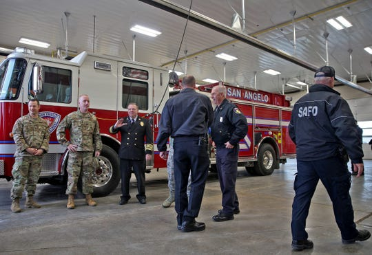 Guests check out the inside of the new SAFD fire station No. 4 after a grand opening ceremony Friday, Nov. 22, 2019.