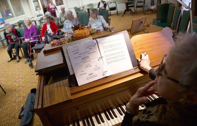 Trudy Darling, far right, directs the Fa La La Singers during a rehearsal Friday, Nov. 22, 2019.