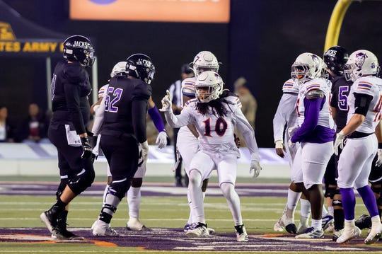 NSU's Ja'Quay Pough and the Demons fell in their regular-season finale Thursday.