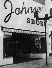 Johnson Shoes is shown during the opening in 1976 at 214 S. Phillips.