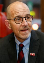 PFLAG Executive Director Brian Bond, a southwest Missouri native and former Obama administration official, spoke at PFLAG's 25 anniversary event in Springfield, Mo., on Thursday, Nov. 21, 2019.