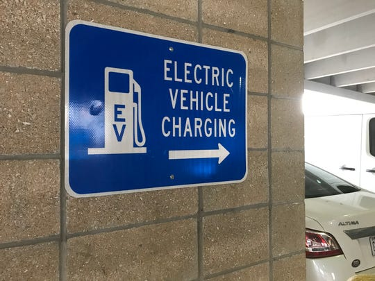The single charging station will soon be improved so it can service two electric vehicles at the same time.