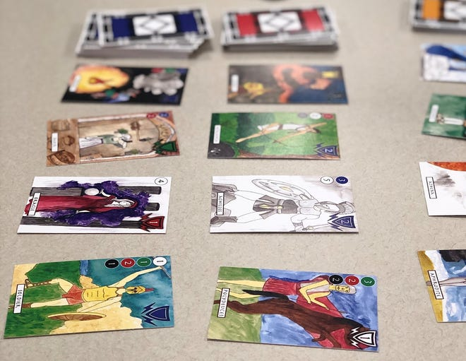 Each card in Mythology: The Game features original art from a Sauk Rapids-Rice High School student.