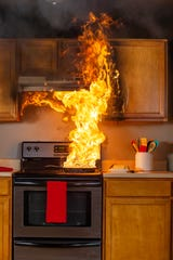 Don't let this happen to your kitchen on Thanksgiving. Heed our safety tips.