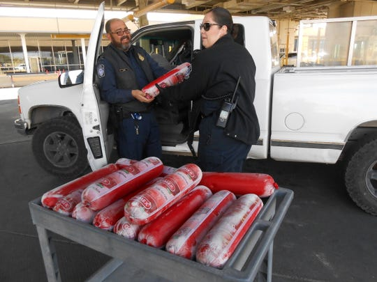 CBP officers recently seized more than 150 pounds of Mexican Bologna at a border crossing in El Paso. Pork cannot be brought across the border because of the danger of potential diseases.