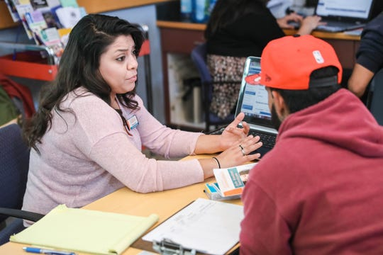 Dozens gather at the Mesilla Valley Community of Hope to get birth certificates, driver's licenses and job help in Las Cruces on Friday, Nov. 22, 2019.