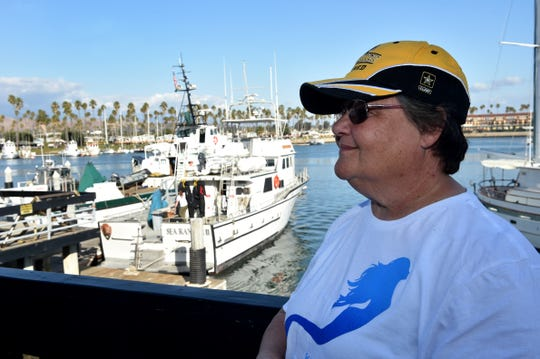Bonnie Casler, 64, of Temecula, was among a group of Waves Project participants who spent four days scuba diving and doing underwater research at the Channel Islands National Park. The Army veteran said the experience with the project helped her cope with post-traumatic stress disorder.