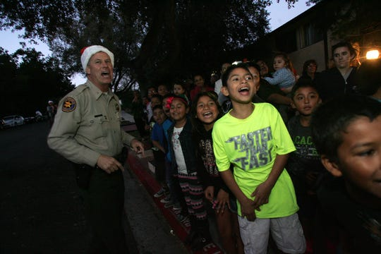 In 2015, Thousand Oaks Chief Tim Hagel announced the arrival of Santa Claus during an event at an apartment complex in Thousand Oaks.