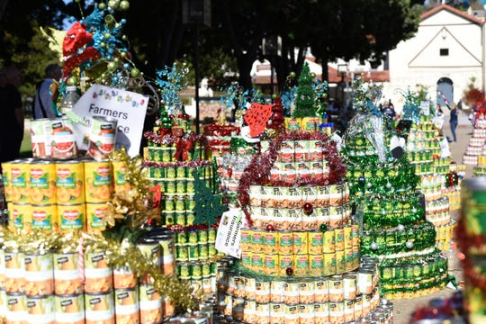Food Share's CAN-tree event regularly collects 220,000 pounds of food.