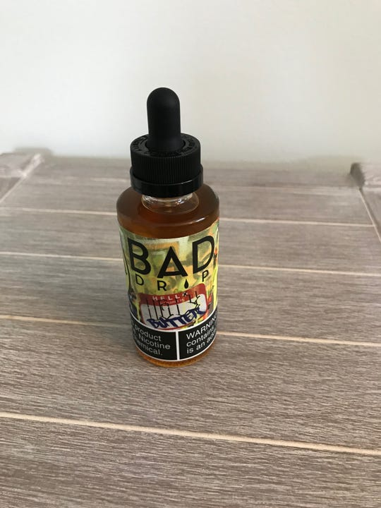 Bad Drip liquid nicotine purchased in Liverpool, NY.