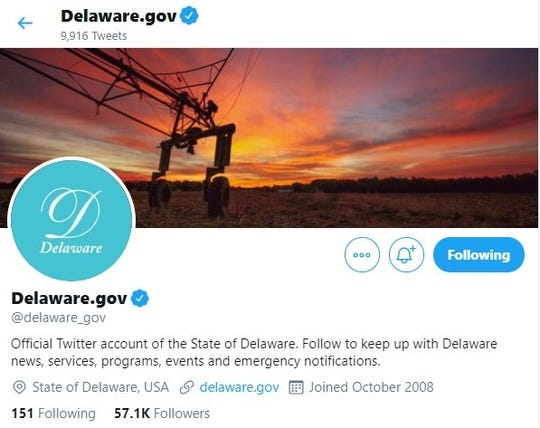 Delaware's official Twitter account beefed with New Jersey's over who is the first state.
