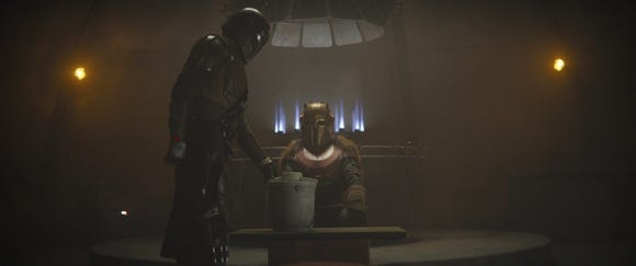 The Mandalorian visits the Armorer in Chapter 3