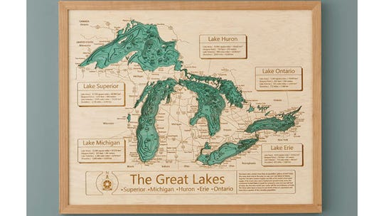 Detroit Free Press / Reviewed 2019 gift guide: Lake Topography Art