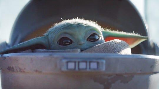 "Baby Yoda in ""The Mandalorian."""