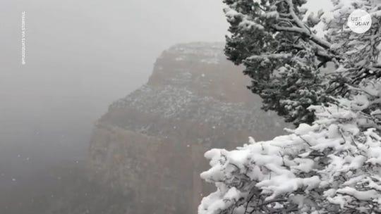 Let it snow, let it snow, let it snow! Grand Canyon transforms into winter wonderland