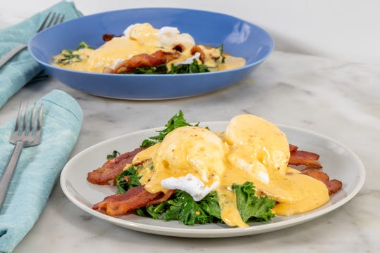 Ree Drummond's dish Lower Carb Eggs Benedict.