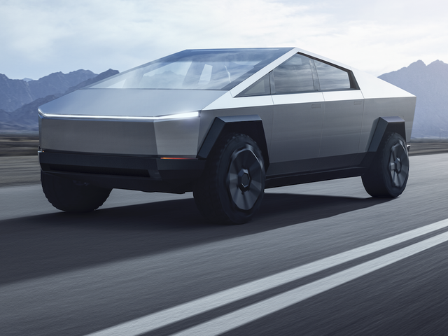 Tesla Cybertruck Elon Musk Pickup Design Stuns Aims At