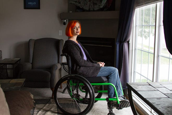 Isabelle Briar, of Omaha, Nebraska, still uses a chair that was damaged during a United Airlines flight three years ago because she cannot afford the fix herself and she said the airline refused to do more than tape it.