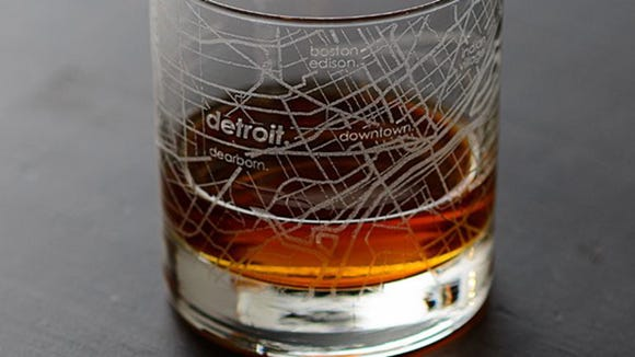 Detroit Free Press / Reviewed 2019 gift guide: Detroit Map Glass