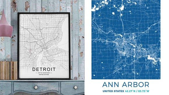 Detroit Free Press / Reviewed 2019 gift guide: City maps