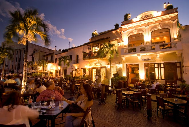 Santo Domingo's Zona Colonial historic district is filled with alfresco restaurants and cafes.