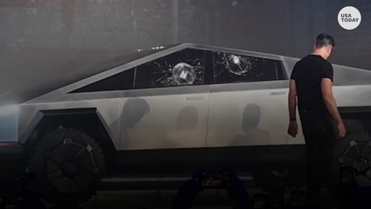 Tesla accidentally breaks new Cybertruck 'bulletproof' windows during unveiling