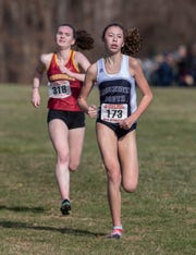 Middletown South Reese Fahys. NJSIAA Girls Cross Country Meet of Champions at Holmdel Park, Holmdel, NJ on November 23, 2019.