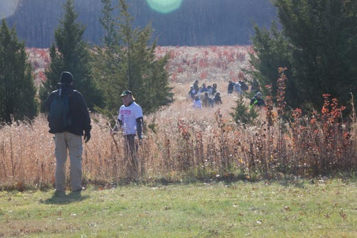 Hundreds of people joined the search for Stephanie Parze in a Freehold Township field Saturday morning