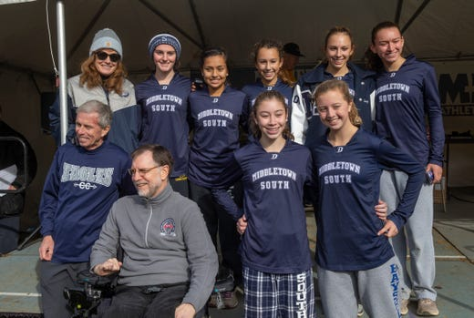 Middletown South Girls Cross Countryd placed third in the NJSIAA Girls Cross Country Meet of Champions at Holmdel Park, Holmdel, NJ on November 23, 2019.