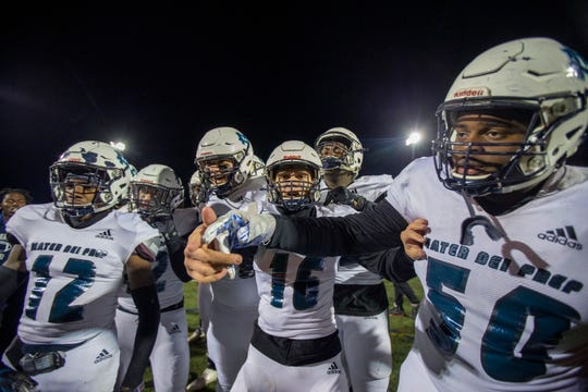 Mater Dei wins over Red Bank Catholic 10-3 during the NJSIAA nonpublic Group III semifinal football game between Mater Dei Prep and Red Bank Catholic at Count Basie Field in Red Bank, NJ Friday, November 22, 2019.