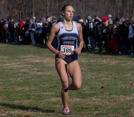 Middletown South Lucy Afanasewicz. NJSIAA Girls Cross Country Meet of Champions at Holmdel Park, Holmdel, NJ on November 23, 2019.