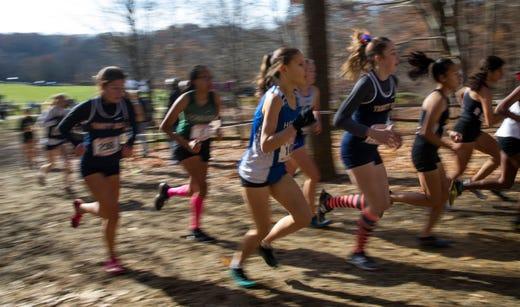 NJSIAA Girls Cross Country Meet of Champions at Holmdel Park, Holmdel, NJ on November 23, 2019.