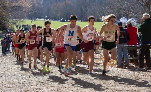 NJSIAA Boys Cross Country Meet of Champions at Holmdel Park, Holmdel, NJ on November 23, 2019.
