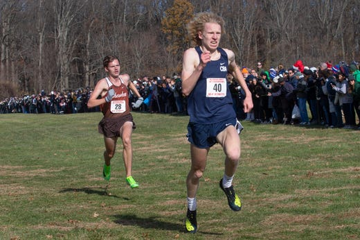 CBA Shaw Powell place third in the boys race. NJSIAA Boys Cross Country Meet of Champions at Holmdel Park, Holmdel, NJ on November 23, 2019.